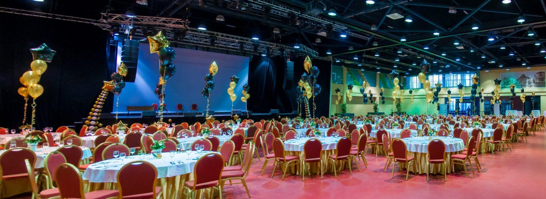 Просторные залы вместимостью до 800 человек