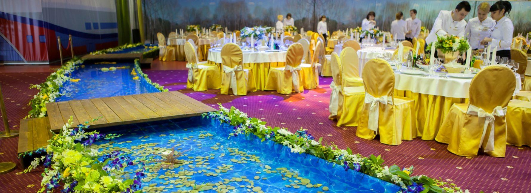 Дизайнерское и флористическое оформление зала