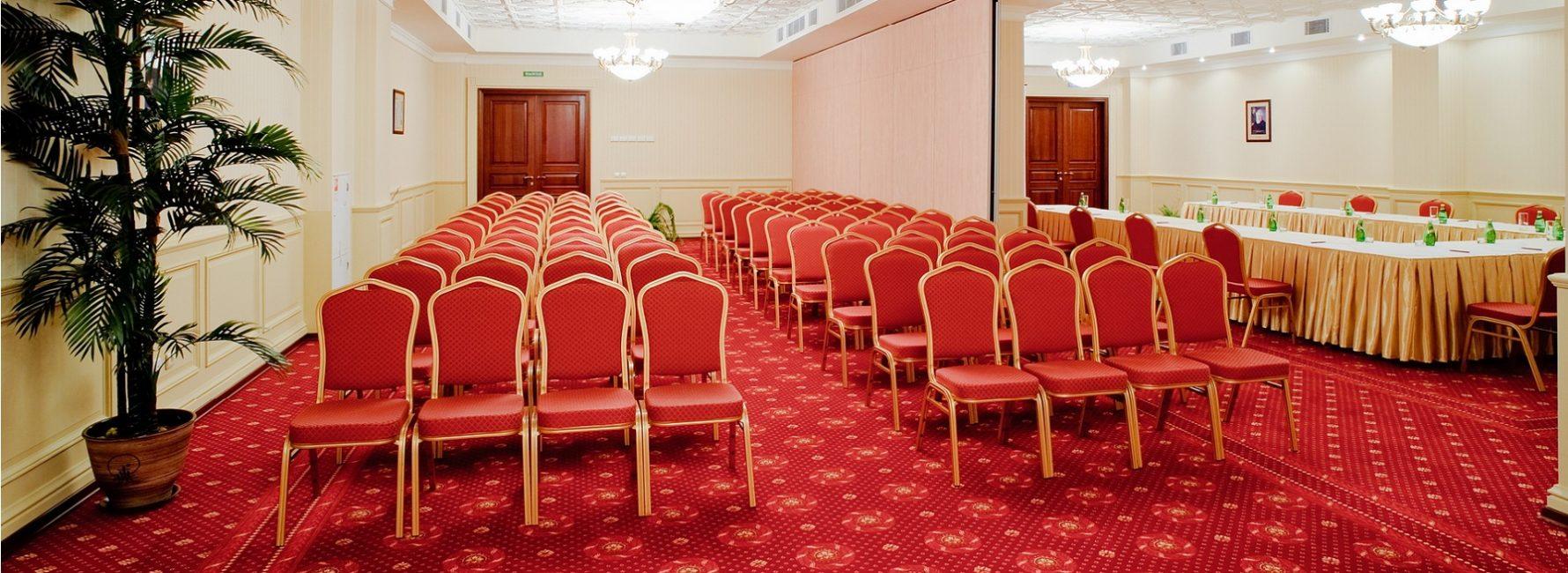 6 трансформируемых залов со звукоизоляционными перегородками